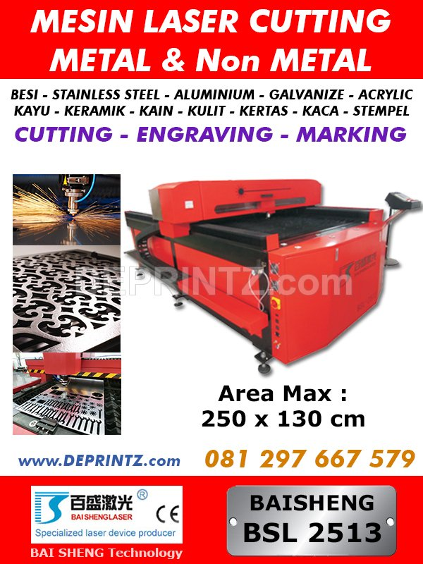 Mesin Laser Cutting Metal BSL2513