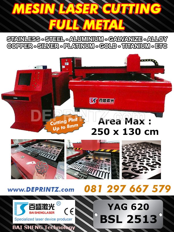 Mesin Laser Cutting Metal YAG620 BSL 2513