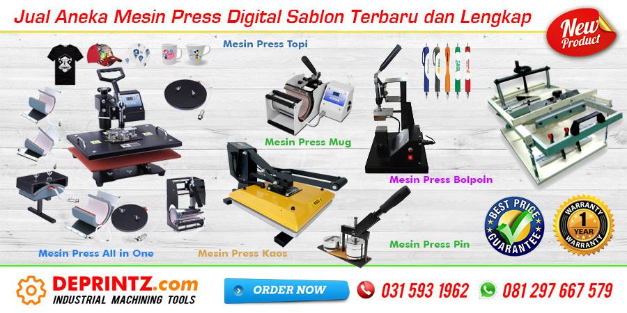 Distributor Aneka Mesin Heat Press Pemanas Digital Sablon Lengkap Terbaru Harga Murah