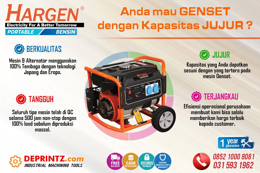 Jual Genset Portable Bensin Rumah HARGEN Surabaya