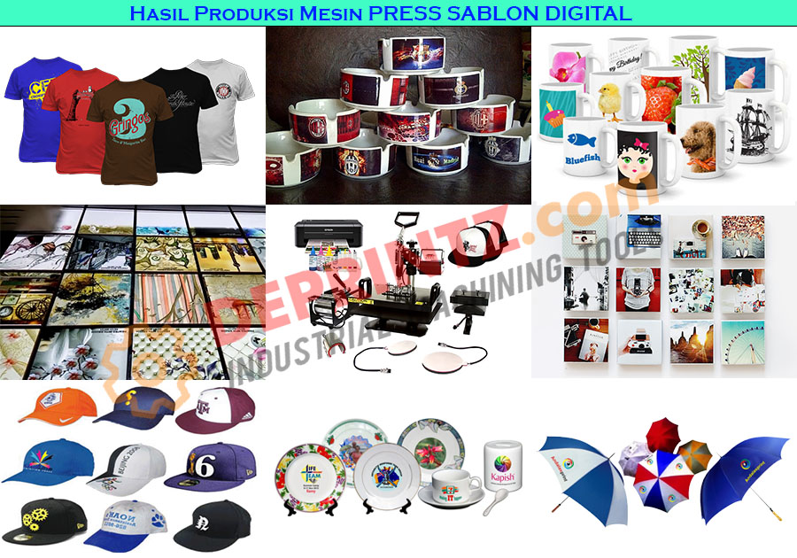 Hasil Alat PRESS SABLON DIGITAL