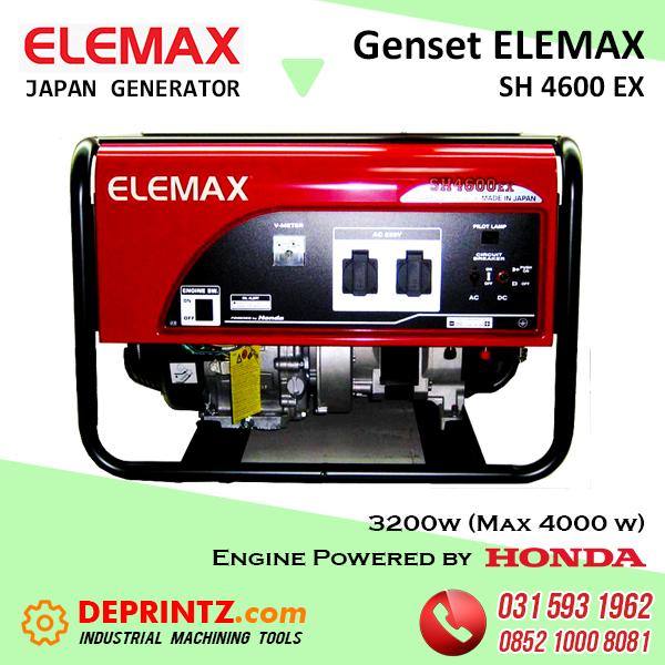 GENSET JEPANG ELEMAX SH 4600 EX - 4Kva HARGA MURAH