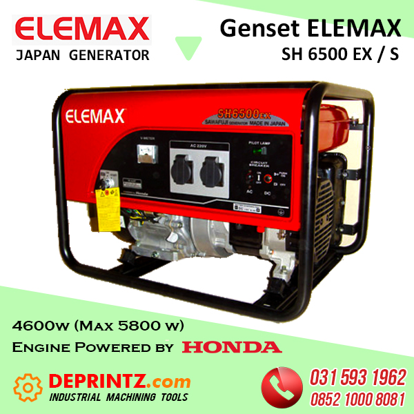 GENSET JEPANG ELEMAX SH 6500 EX - 5KVA HARGA MURAH
