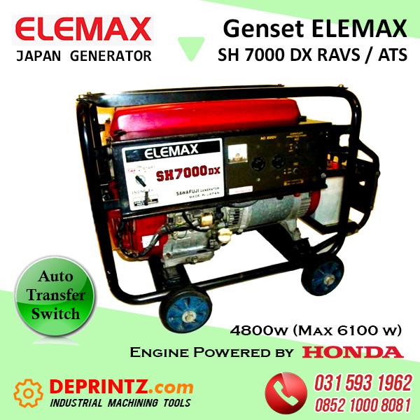 GENSET OTOMATIS ATS ELEMAX SH 7000 DX - 5KVA HARGA MURAH