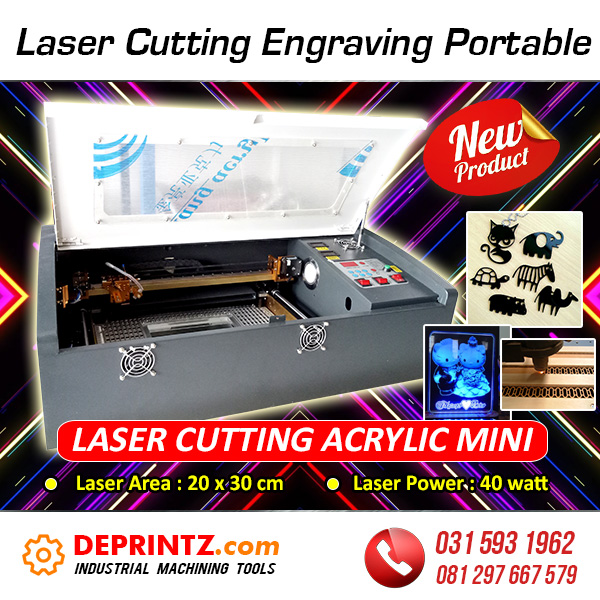 Jual Mesin Laser Cutting Engraving Acrylic Mini Portable Harga Murah