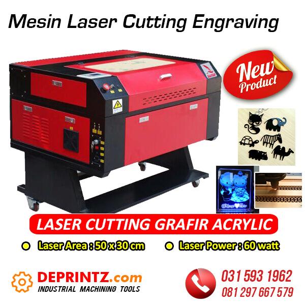 Jual Mesin Laser Potong Grafir Mika Kayu Akrilik 5030