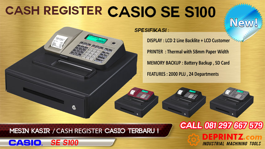 Harga Mesin Kasir Cash Register CASIO SE S100