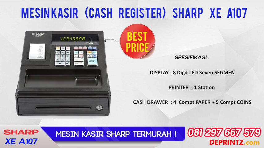 JUAL MESIN KASIR SHARP XE A107