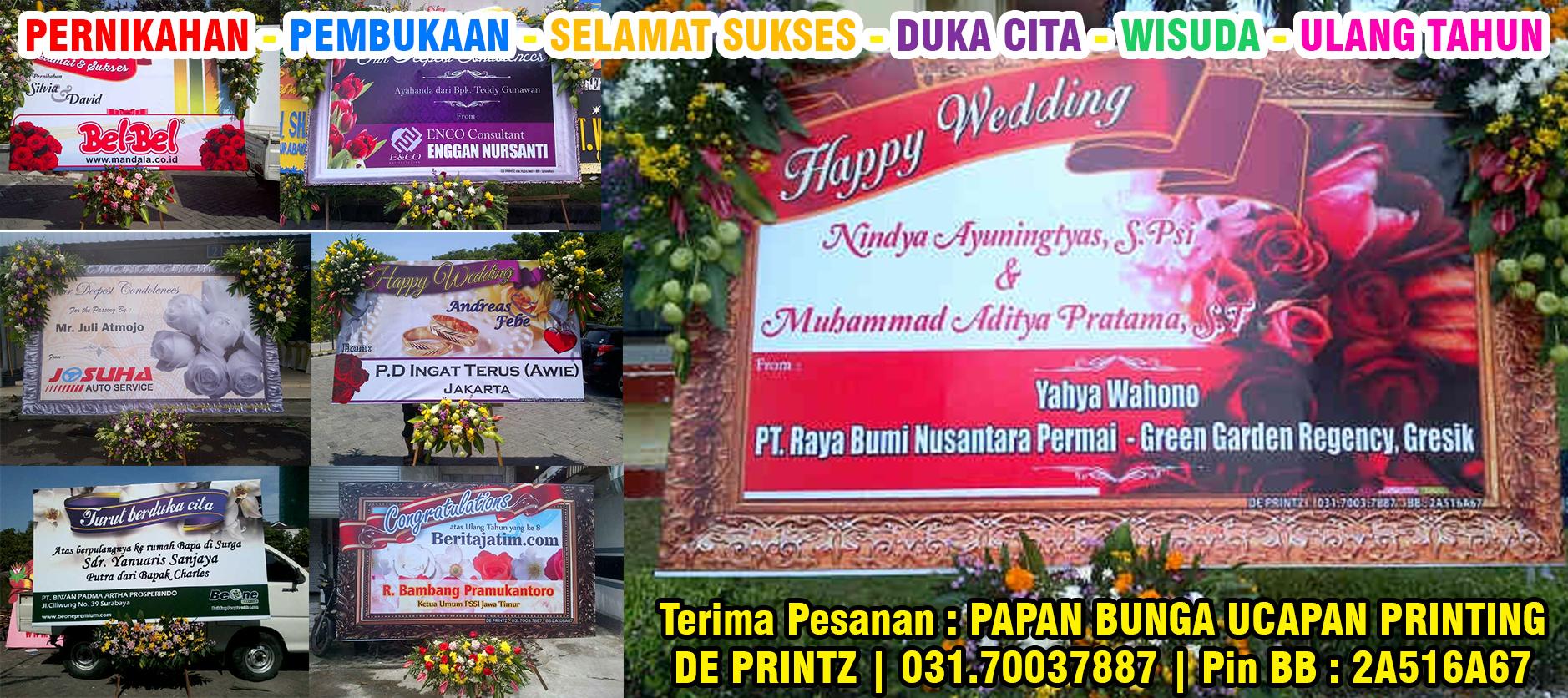 Pesan Papan Bunga Ucapan Digital Printing Murah Surabaya