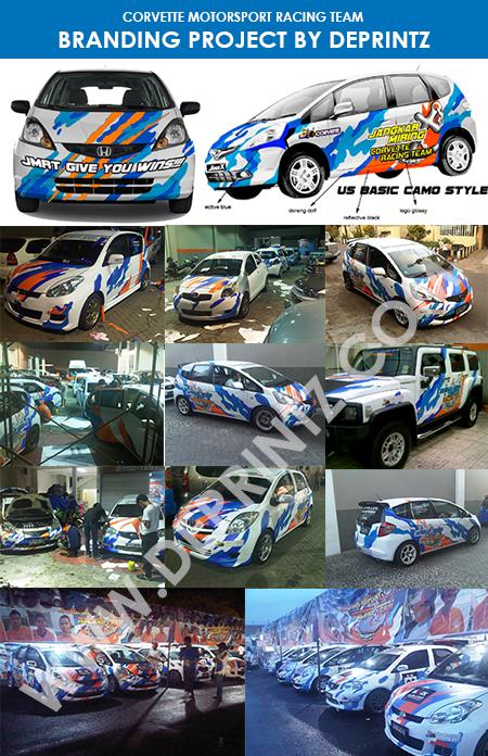 Branding Mobil Klub Balap Racing