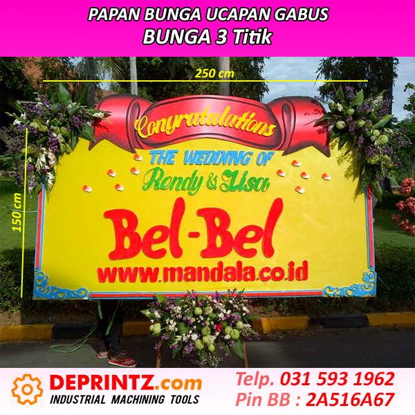 Jasa Papan Bunga Ucapan Pernikahan Surabaya