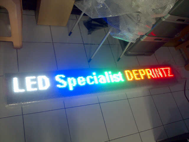 Running Text Moving Sign LED Colour