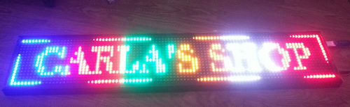 Running Text LED Colour RGB Display Signage