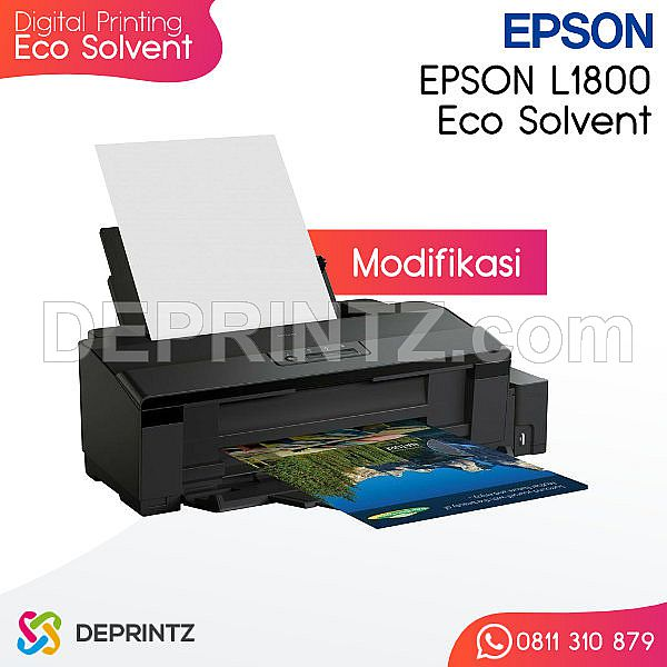 Mesin Digital Printing Indoor Ecosolvent EPSON L1800 Modif