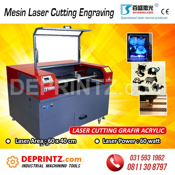 Jual Mesin Laser Cutting Engraving Acrylic Baisheng AS 6040