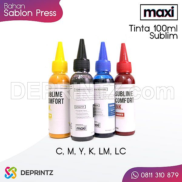 Tinta Sublim MAXI 100ml | Bahan Sablon Digital