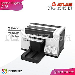 Mesin Printer DTG A3+ 2 Head ATLAS DTG 3545 BT with Vacuum