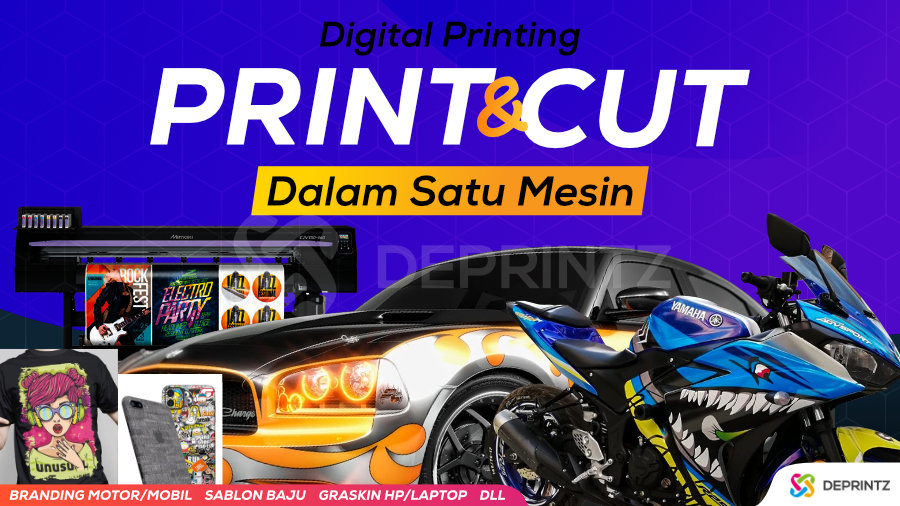Distributor Dealer Mesin Usaha Branding Sticker Motor Mobil Print and Cut