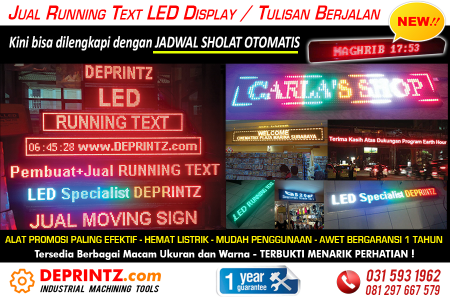 Jual Running Text Moving Sign LED Display