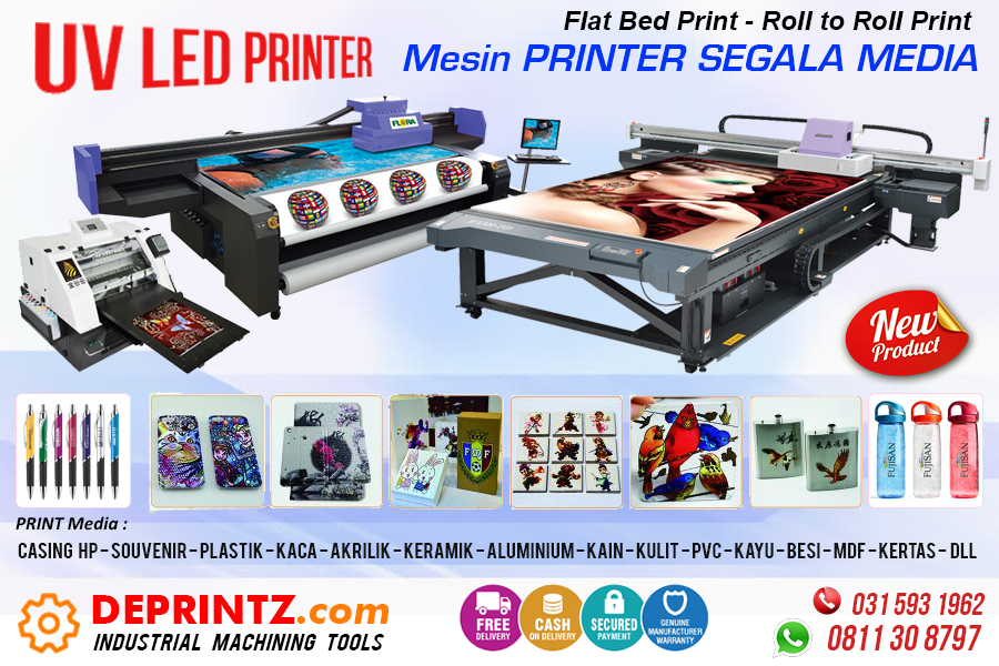 Jual MESIN PRINTER UV LED PRINTING
