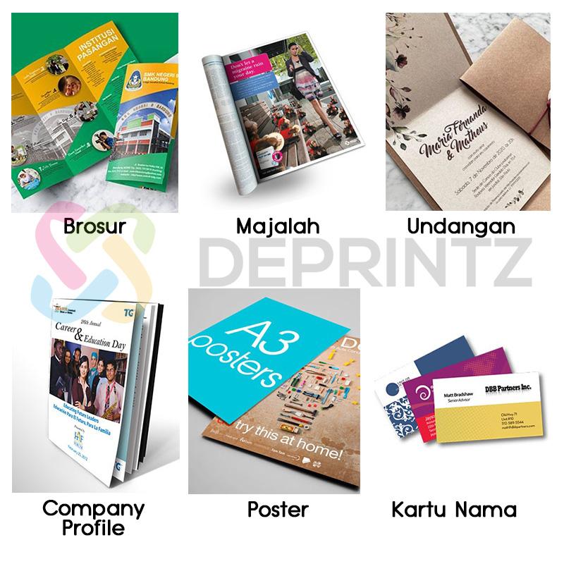 Contoh Hasil Printer Laser A3 Poster Majalah Brosur Kartu Nama