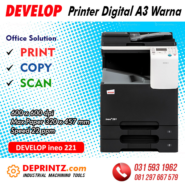 Jual Mesin PRINTER Warna A3 DEVELOP ineo 221