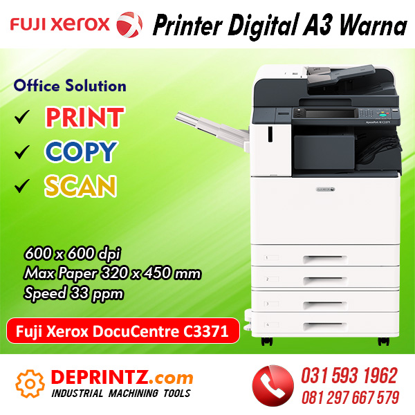 Jual Mesin PRINTER Warna A3 Fuji Xerox C3371