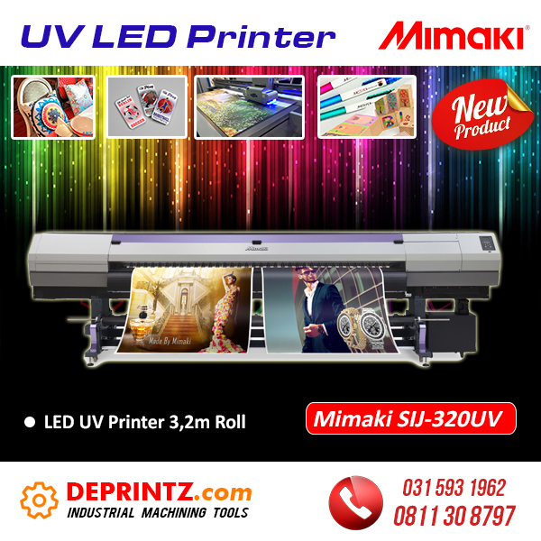 Jual Mesin Printer UV LED Printing Roll to Roll Mimaki SIJ-320UV