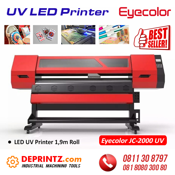 Jual Mesin UV LED Printer Roll 1,9m Eyecolor JC-2000UV