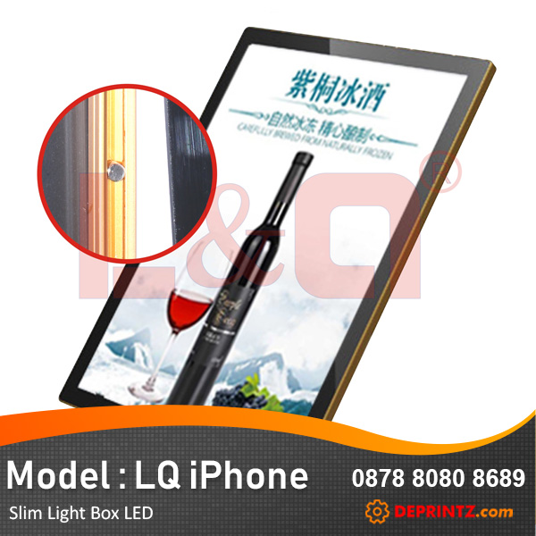 Poster LED Acrylic Advertising Display Slim Light Box Model LQ Iphone