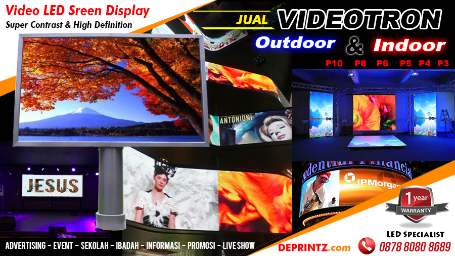Supplier Pembuat Jual VIDEOTRON LED SCREEN DISPLAY INDOOR OUTDOOR HARGA MURAH