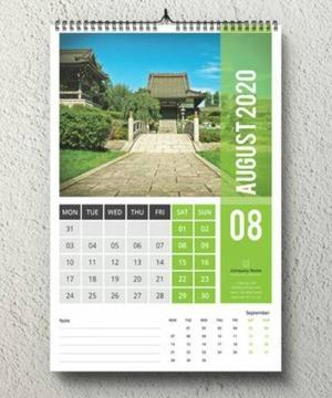 Kalender Contoh Hasil Mesin Jilid