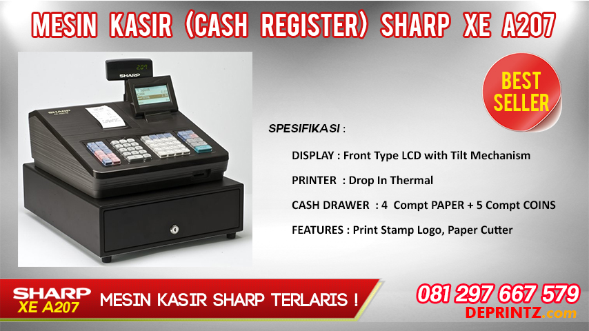 JUAL CASH REGISTER SHARP