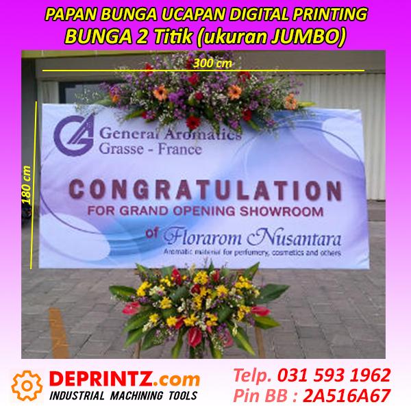 Jasa Pesan Pembuatan Papan Karangan Bunga Ucapan Surabaya