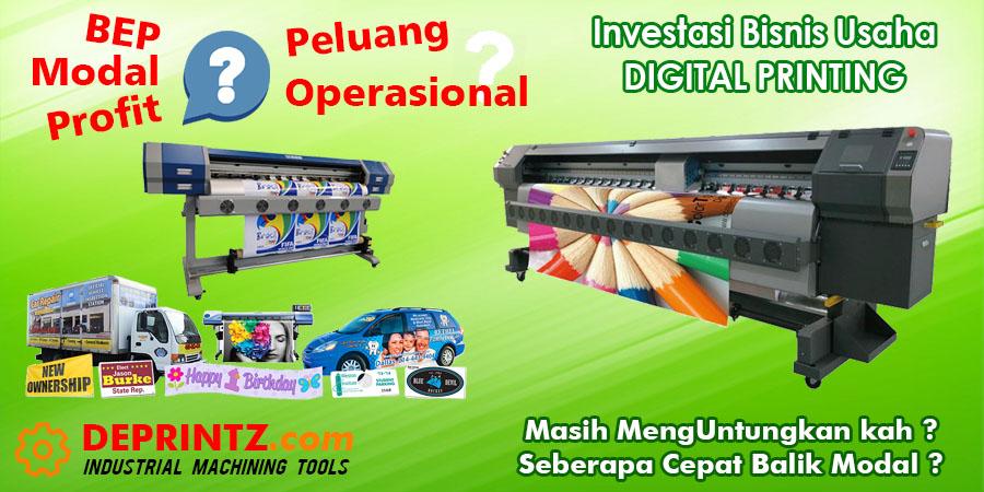 Perhitungan Investasi Modal Laba Bep Untuk Bisnis Usaha Percetakan Mesin Digital Printing