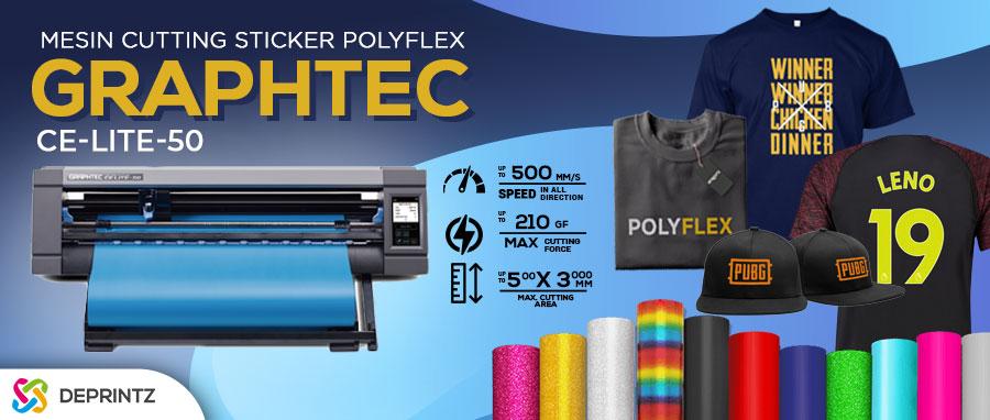 Jual Mesin Cutting Sticker Polyflex Plotter Sablon Kaos GRAPHTEC CE LITE 50