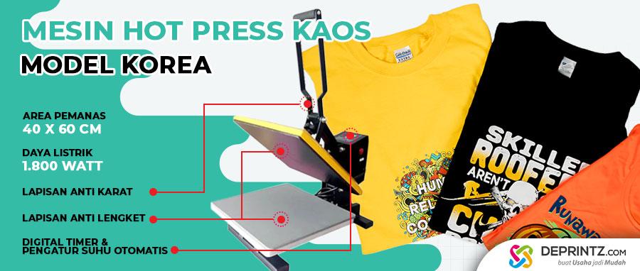 Harga Mesin Press Sablon Baju Import Terbaru Korea 40x60cm 1800 Watt