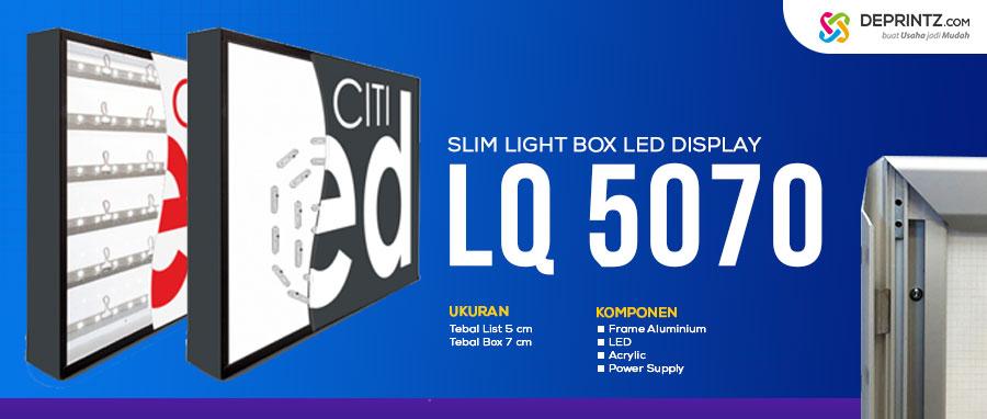 Jual Media Promosi Poster Acrylic LED Display Slim Lightbox Model LQ 5070