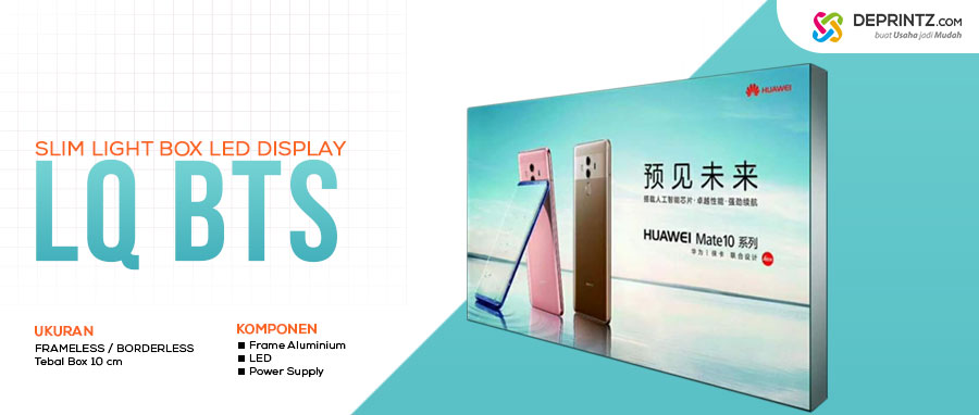 Jual Slim Light Box Acrylic LED Display Neonbox Tipis Model LQ BTS