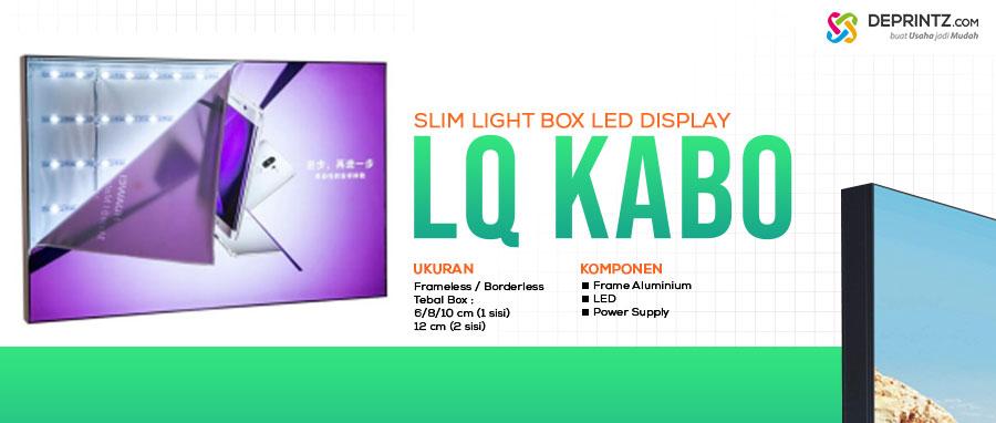 Neonbox Tipis Borderless cocok Toko Outlet Handphone Slim Light Box model LQ KABO