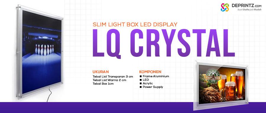 Jual Pigura LED Advertising Acrylic Display Slim Light Box model LQ Crystal