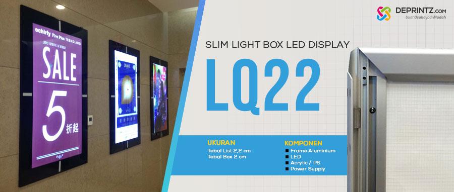 Jual Slim LIght Box Advertising LED Poster Acrylic Display