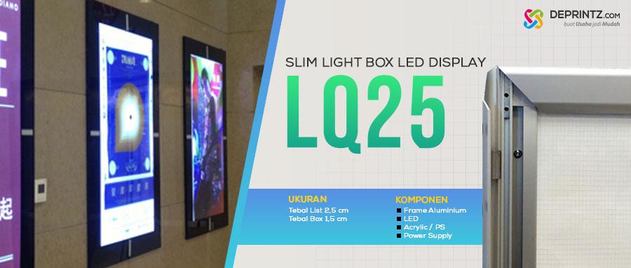 Jual LED Poster Acrylic Advertising Media Promosi Slim Light Box model LQ 25