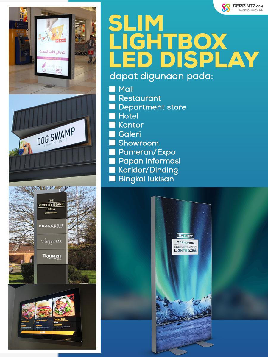 Contoh Produk Slim LIght Box LED Poster Neonbox Advertising Media Promosi Papan Petunjuk Informasi