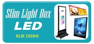 Slim Light Box LED Acrylic Advertising Display Media Iklan Promosi Terbaru