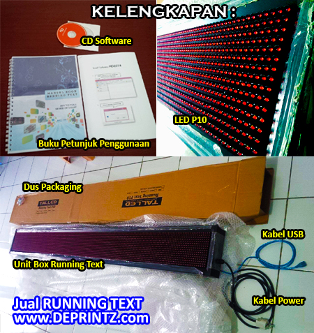 Kelengkapan Unit Running Text