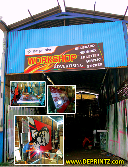 Gudang Workshop Advertising Produksi Reklame DEPRINTZ